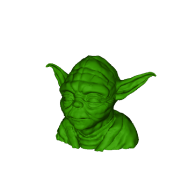 3d model - master yoda lopoly