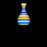 3d model - Color vase