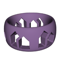 3d model - Wristband of Houses
