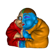 3d model - BlueSkinned Buddha