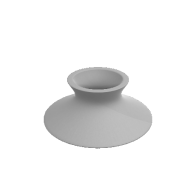 3d model - Flat Vase