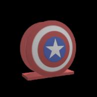 3d model - Captain of America shild napkin holder