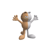 3d model - Garfield