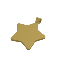 3d model - star pendant 30 mm