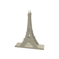 3d model - Eiffel Tower