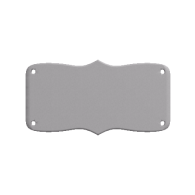 3d model - Nameplate with holes