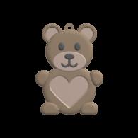 3d model - bear pendant