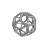 3d model - Rhombic Triacontahedron