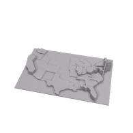 3d model - USA