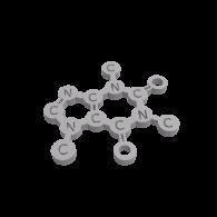 3d model - Caffeine Molecule