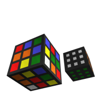 3d model - two rubix cubes