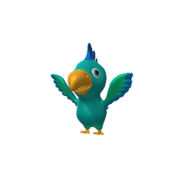 3d model - CartoonParrot