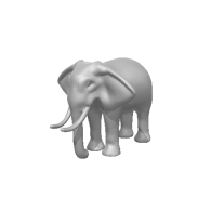3d model - Elephant