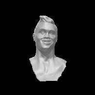 3d model - Cristiano Ronaldo Bust