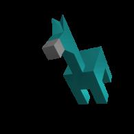 3d model - Cube horse