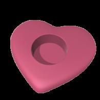 3d model - Heart Candle Holder