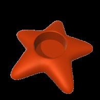 3d model - Star Candle Holder