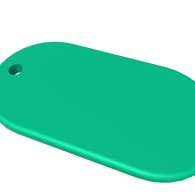 3d model - Rounded Pendant