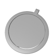 3d model - Rotating Keychain Circle Big