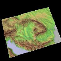 3d model - hungary terrain