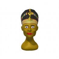 3d model - nefertiti lives